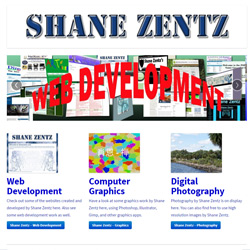 web developing by Shane Zentz