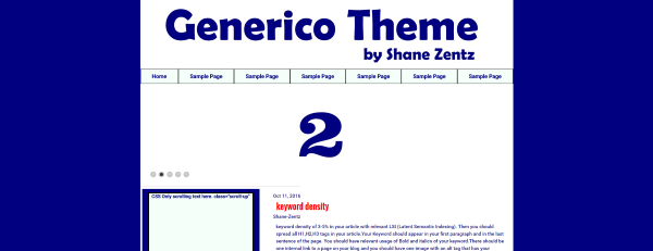 Shane Zentz Generico Wordpress Theme screenshot image